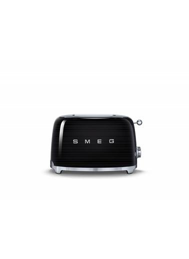 Smeg TSF01BLEU Linea 50's Retro Style Siyah Siyah İkili Ekmek Kızartma Makinesi Siyah